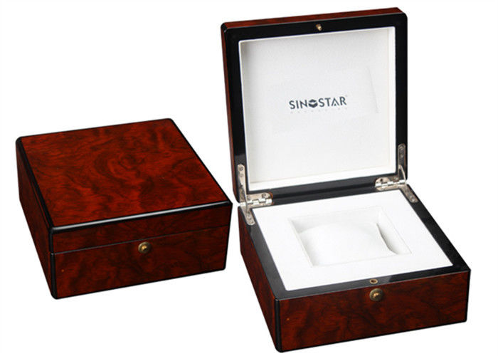 High Gloss Paiting Wooden Watch Storage Box , Luxury Wooden Watch Display Box
